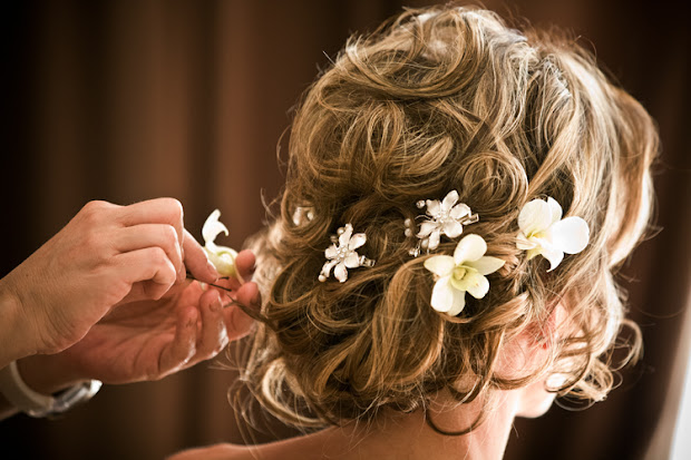 lq design wedding hair flower