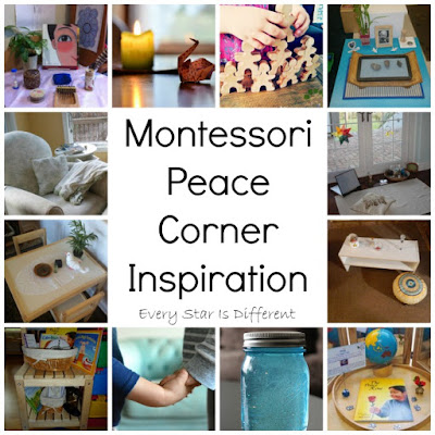 Montessori Peace Corner inspiration for home and school.