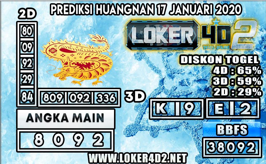 PREDIKSI TOGEL HUANGNAN LOKER4D2 17 JANUARI 2020