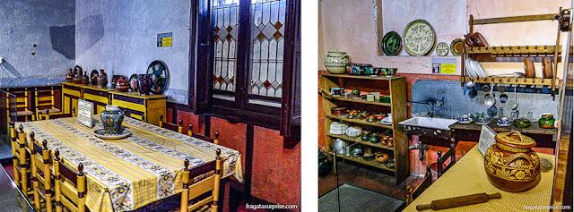 Cozinha da casa de Trotski, Museu Casa de Leon Trotski, Cidade do México