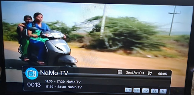 NAMO TV can be received by DD Direct Plus / DD Freedish Users