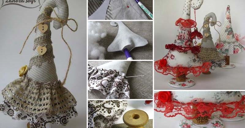 elochka-iz-tkani-svoimi-rukami Елка своими руками. 16 идей, как сделать новогоднюю поделку из подручных материалов