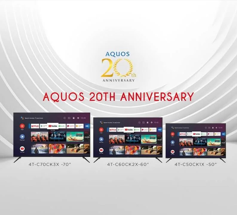Sharp AQUOS Celebrates 20 Years of Quality, Innovation, and Excellence
