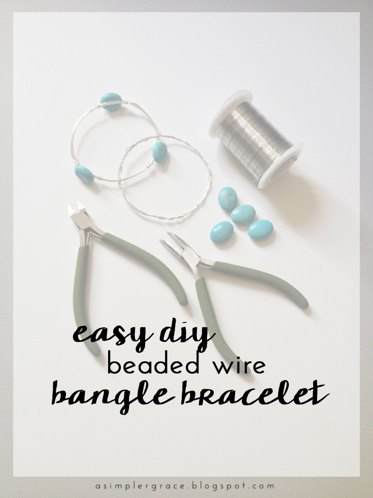 A fun and easy DIY jewelry project - Easy DIY Beaded Wire Bangle Bracelets