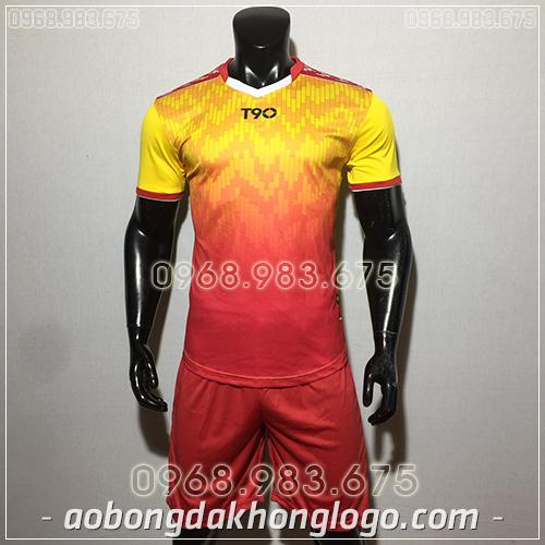 Áo bóng đá ko logo T90 Cli màu vàng