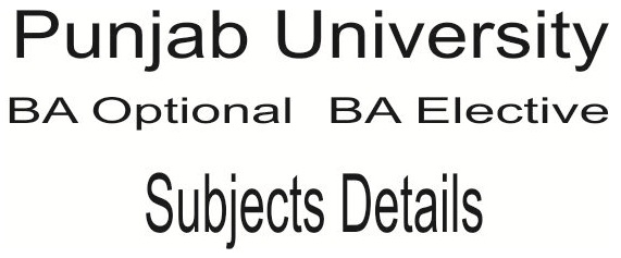 ba pu optional and elective subject details