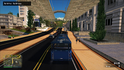 GTA San Andreas Bus Driver Mod With Metro Train New Line