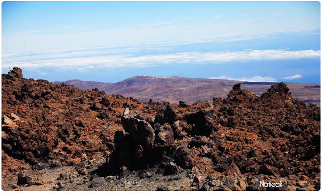 Vue du Pic de Teide sur l'Observatoire astronomique des Canaries