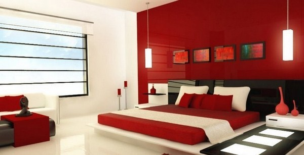 Red Bedroom Design A Striking Radiance