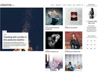 Creative blogger template without Footer credit.