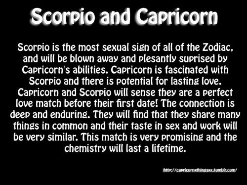 scorpio and capricorn dating
