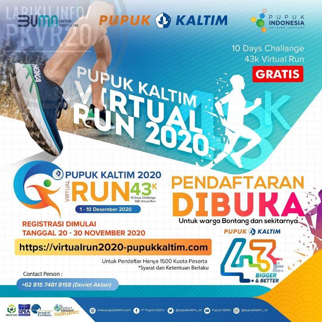 Pupuk Kaltim Virtual Run • 2020