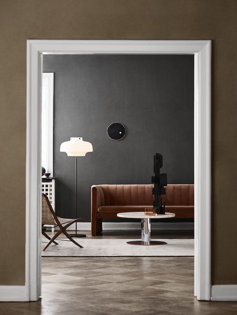 soft curved design sofa