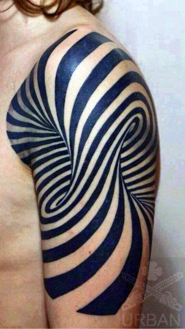 45 Optical Illusion Tattoos