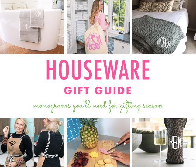 Monogrammed Houseware Gift Guide