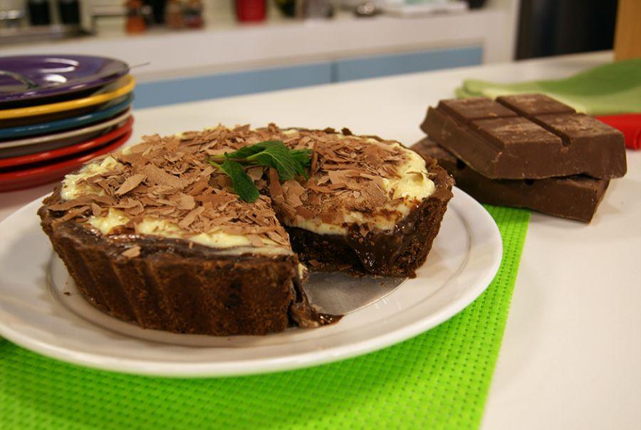 Receita de Torta Cookie Dois Amores