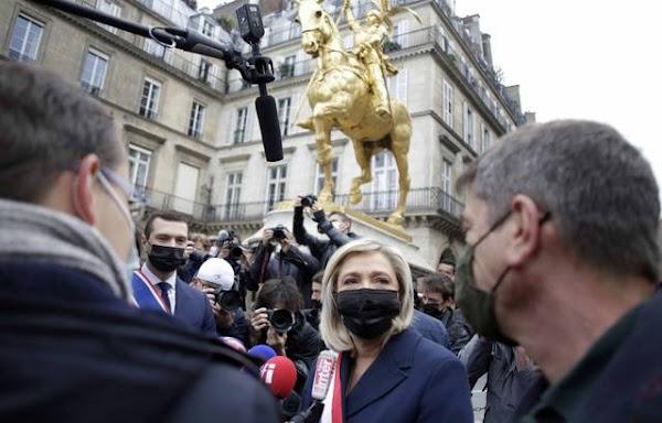 Présidentielle 2022 : La réélection d'Emmanuel Macron, ce serait le « chaos général », selon Marine Le Pen