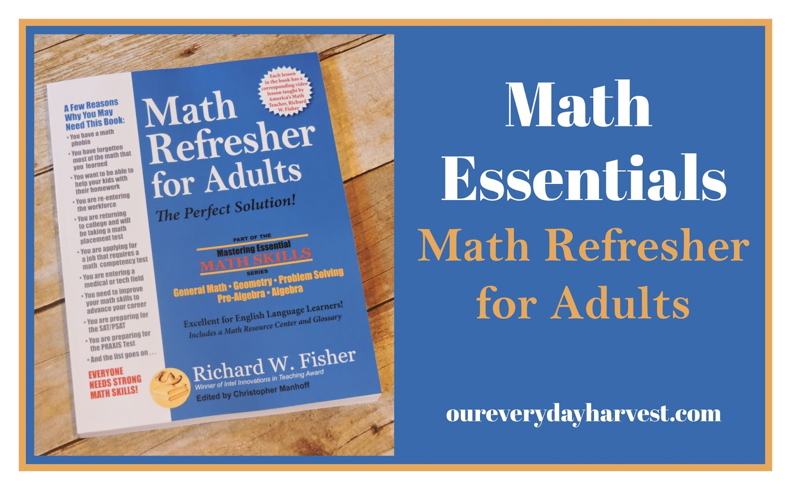Math Essentials Math Refresher For Adults Review