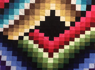 Bargello quilt, fire e2e and deb's feathers e2e patterns