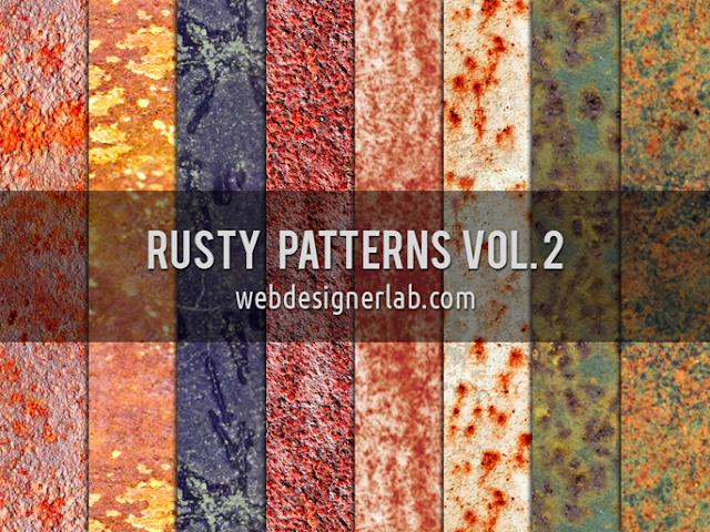 Rusty Patterns Vol. 2, free psd pattern