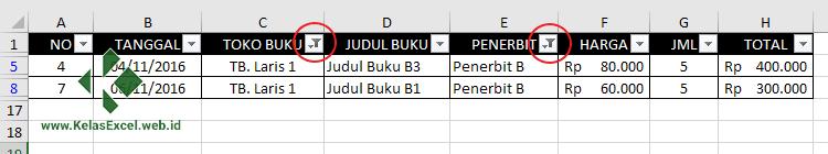 Autofilter Data Pada Excel 6