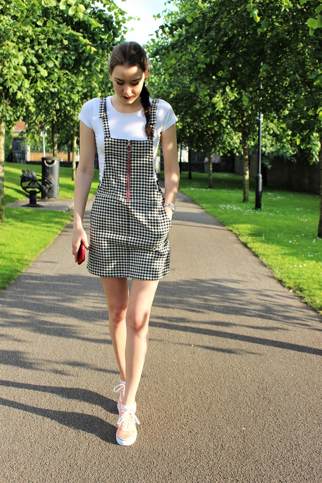 OOTD 49 :: Sporty Summer Look : Pinafore Dress