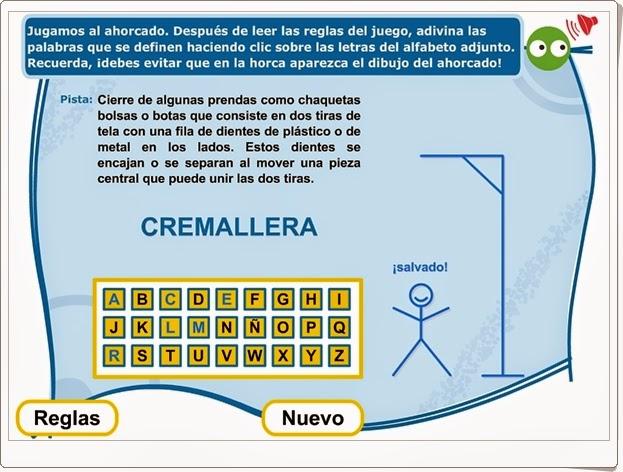"""""""El ahorcado"""" (Vocabulario de 3º y 4º de Primaria)"""