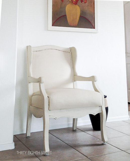chalk paint, annie sloan, chalk paint before and afters, how to paint fabric, chair makeover, refinished chair, painted chair, diy painting upholstery