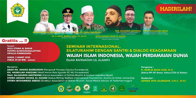Seminar Internasional di Cipulus, Purwakarta. Membuka wajah islam yang sebenarnya