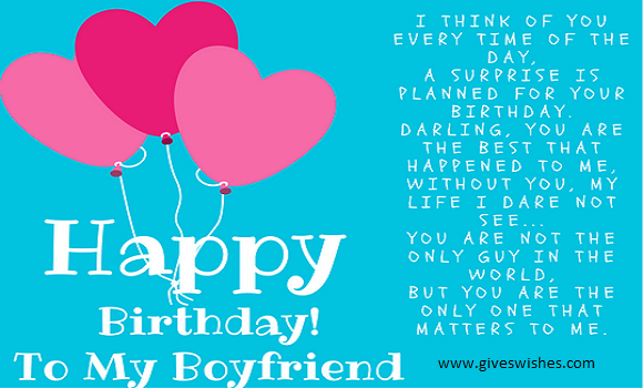 Romantic Happy Birthday Messages For Boyfriend- Birthday Messages For  Him
