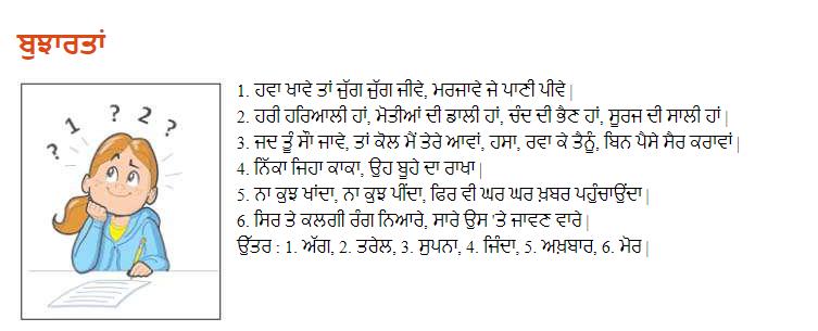 Punjabi Bujartan with Answer