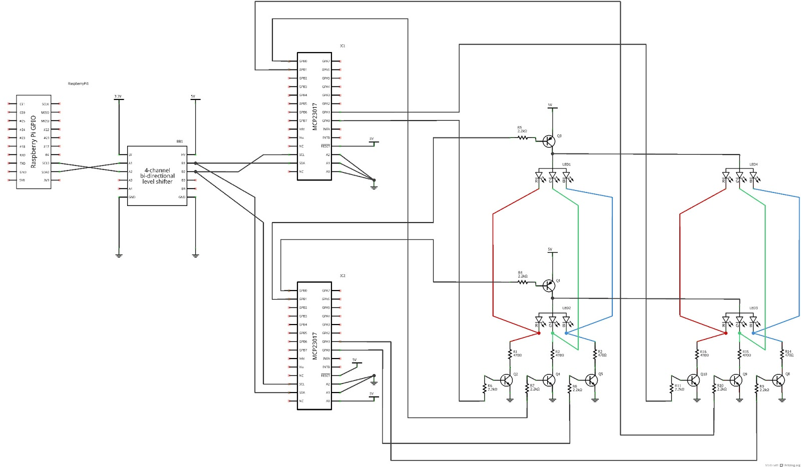 Raspberry Pi Experimenter Electronic Diagram For Portion