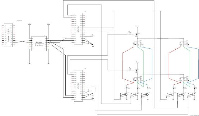 Raspberry Pi Experimenter: Electronic Diagram for Portion