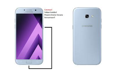 Cara Screenshot Samsung Galaxy A3 (2017) Tanpa Aplikasi