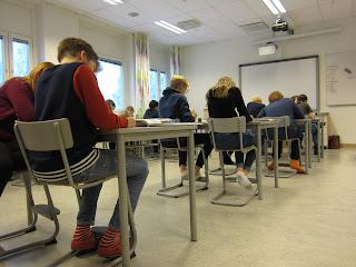 skrivar-workshop med Tova Näslund hos Hagaskolans åk 6