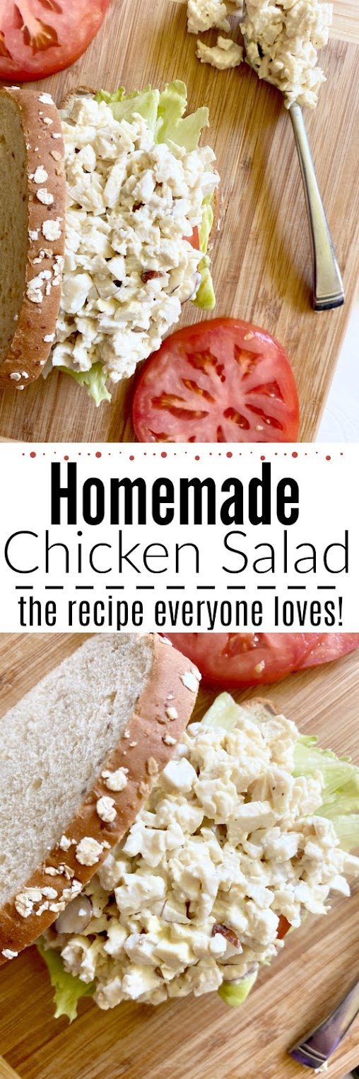 Homemade Chicken Salad #sweetsavoryeats #chickensalad