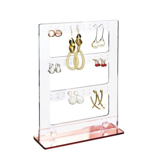 #1406PK Rose Gold Acrylic Magnet Earring Display Holder Stand