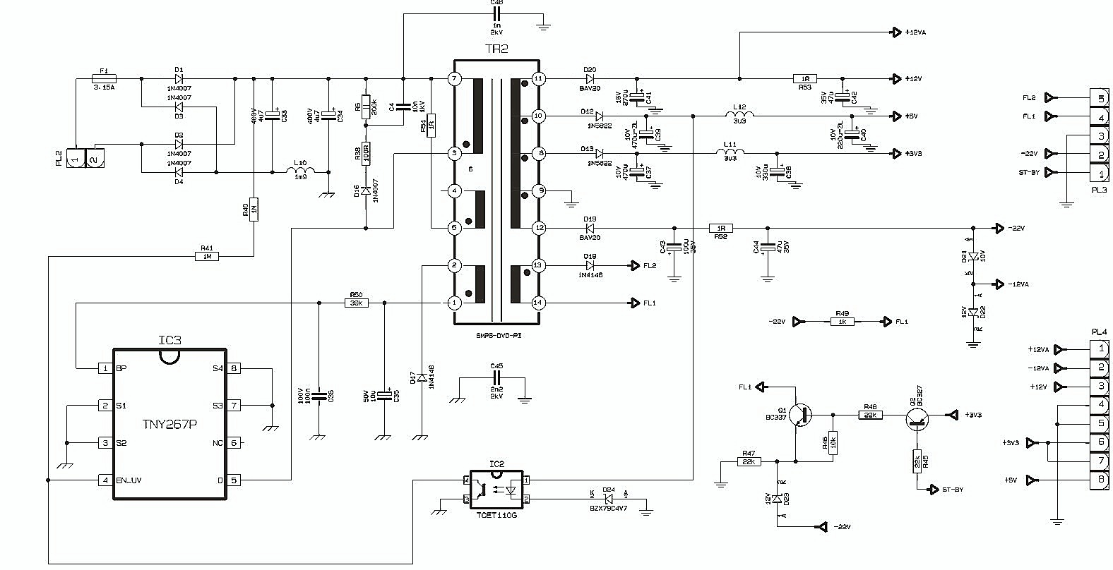 Smps Schematic Diagram 2005 Subaru Legacy Stereo Wiring What Is Switched Mode Power Supply  Types Of
