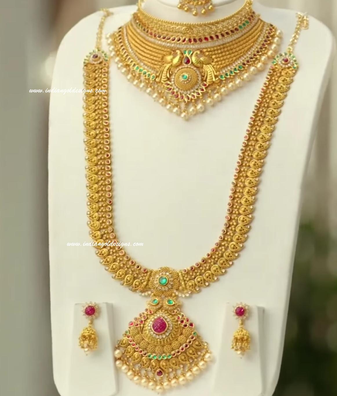 Gold and Diamond jewellery designs: Beautiful gold bridal jewellery