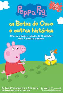 Dica de filme - Peppa Pig: as Botas de Ouro e outras histórias