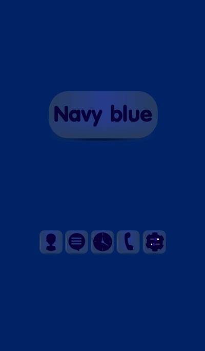 Simple Navy Blue Button theme