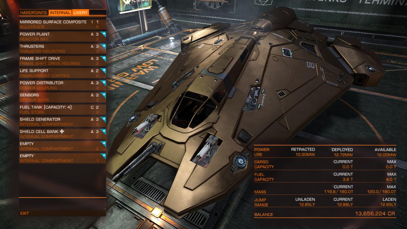 Captains Blog: Elite Dangerous Outfitters - Solid Gold Viper