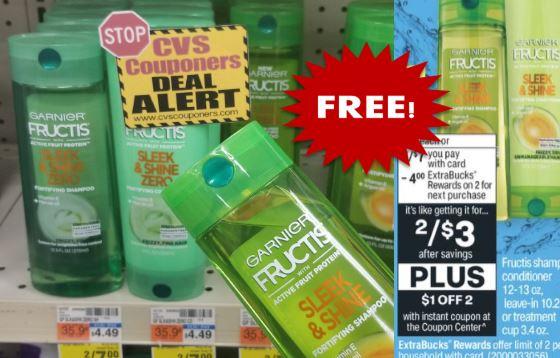 FREE Garnier Fructis Shampoo at CVS 1/10-1/16