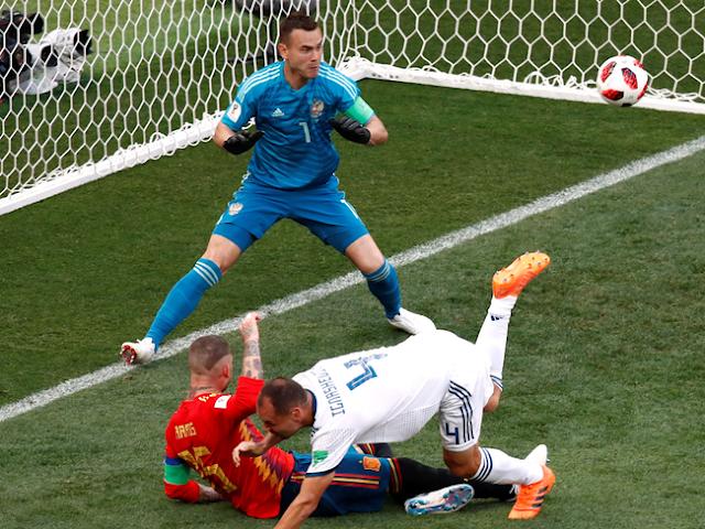 Piala Dunia 2018: Kalahkan Spanyol Lewat Adu Penalti, Rusia ke Perempatfinal