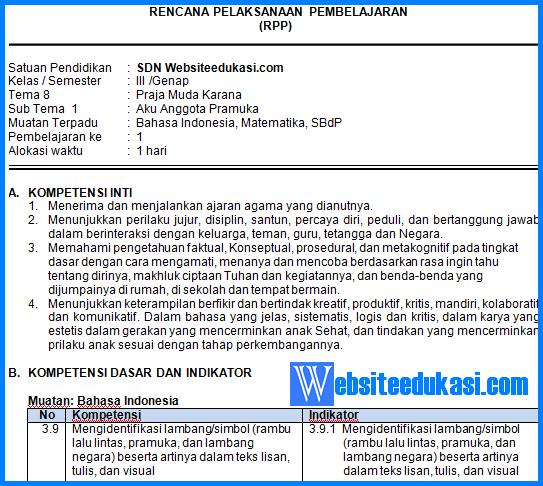 Rpp Kelas 3 Tema 8 Kurikulum 2013 Revisi 2018 Websiteedukasi Com