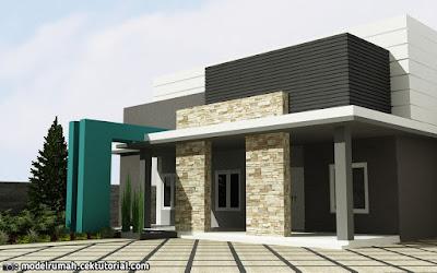 Model Teras Rumah Cor Dak Terbaru