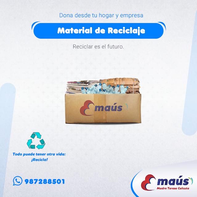 Dona material de reciclaje desde tu hogar y empresa  en Lima