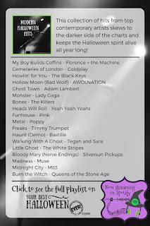 best spotify halloween playlist, modern halloween music, halloween party music