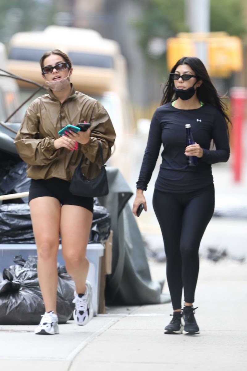 Addison Rae, Kourtney Kardashian Clicked Outside in New York 11 Oct -2020