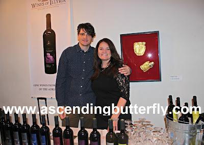 Left, Emir Bander, Bosnian-Herzegovinian Film Festival with Right: Founder of Wines of Illyria, Indira Bayer
